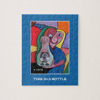 Tijd in een Fles op Blauw - de Stukken van de Tijd Puzzel