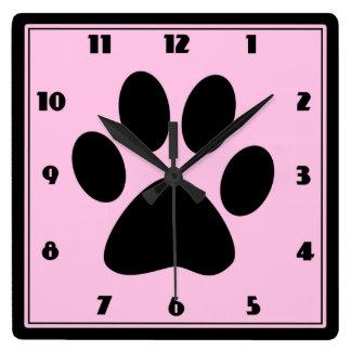 Tijd voor de Roze Klok Pawprint van Huisdieren