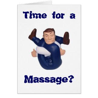 Tijd voor een Massage? spatie binnen I n… Briefkaarten 0