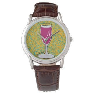 Tijd voor het Horloge van de Mode van de Wijn door
