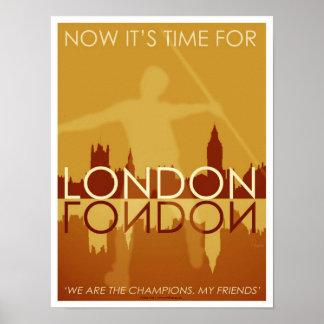 Tijd voor het posterkunst/druk van Londen Poster