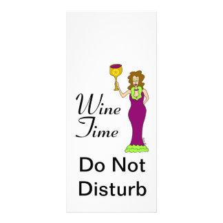 """Tijd"""" WineWomenDesigns.com de """"van de wijn Promoti 10,2x 22,9 Cm Reclamekaart"""