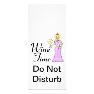 """Tijd"""" WineWomenDesigns.com de """"van de wijn Promoti Reclamekaart"""