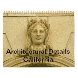 Tijdschema - Architecturale Details Californië Kalender