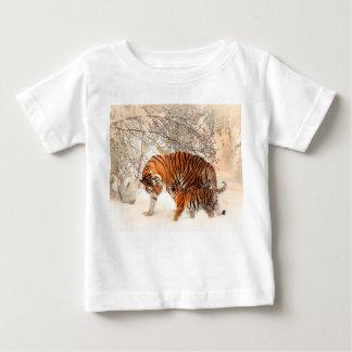 Tijger en welp - tijger baby t shirts