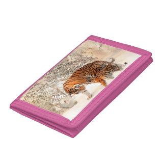 Tijger en welp - tijger drievoud portemonnee