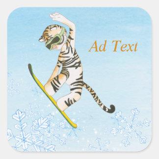 Tijger op Sticker Snowboard