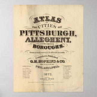 Titelpagina Pittsburgh, atlas Allegheny Poster