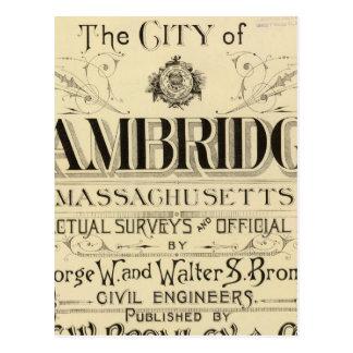 Titelpagina van de Atlas van Cambridge Briefkaart
