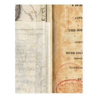 Titelpagina van de Geschiedenis van de Expeditie Briefkaart
