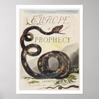 """Titelpagina van """"Europa. Een voorspelling"""", 1794 ( Poster"""