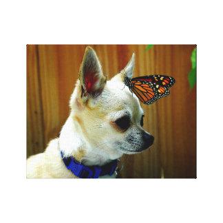 Tito en zijn vlinder canvas afdrukken