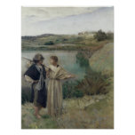 Tobias en Raphael van de Aartsengel Poster