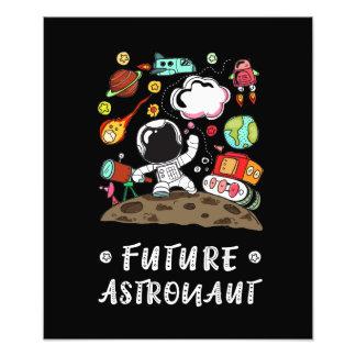 Toekomstige Astronaut, Ruimte, Planeten, Raket. Foto Afdrukken