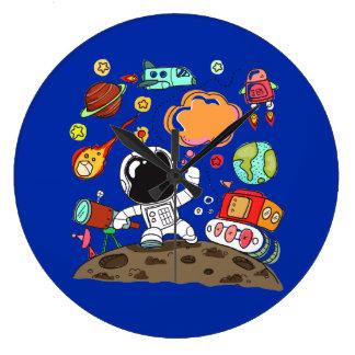 Toekomstige Astronaut, Ruimte, Planeten, Raket. Grote Klok