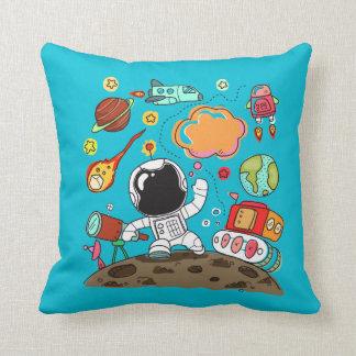 Toekomstige Astronaut, Ruimte, Planeten, Raket. Sierkussen
