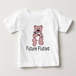Toekomstige Flutist/draagt Baby T Shirts