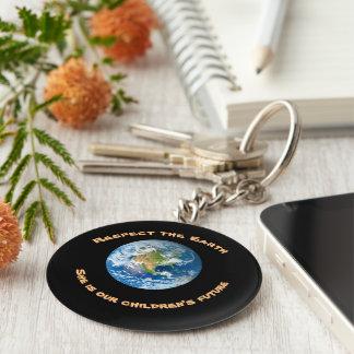 Toekomstige Keychain van de Kinderen van de Aarde Sleutelhanger