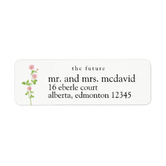 Toekomstige M. en Mevr. Return Adresetiket Retouretiket