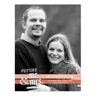 Toekomstige M. & Mevr. Wedding Save The Date - Briefkaart