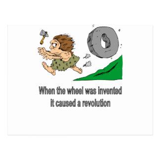 Toen het wiel werd uitgevonden briefkaart
