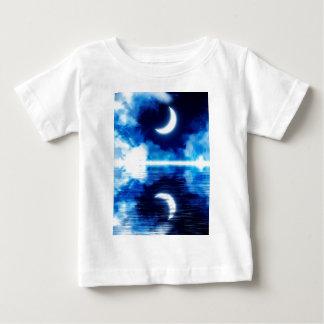 Toenemende Maan over Sterrige Hemel Baby T Shirts