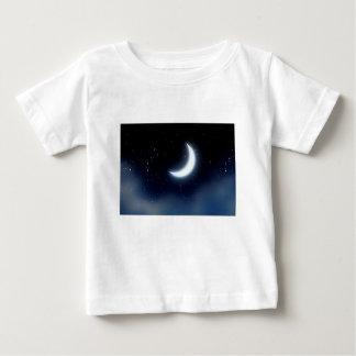 Toenemende Maan over Sterrige Sky2 Baby T Shirts