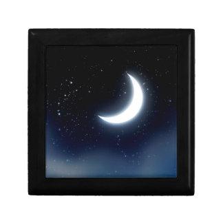 Toenemende Maan over Sterrige Sky2 Decoratiedoosje