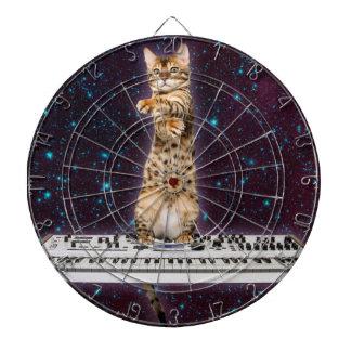 toetsenbord kat - grappige katten - kattenminnaars dartbord