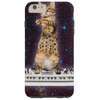 toetsenbord kat - grappige katten - kattenminnaars tough iPhone 6 plus hoesje