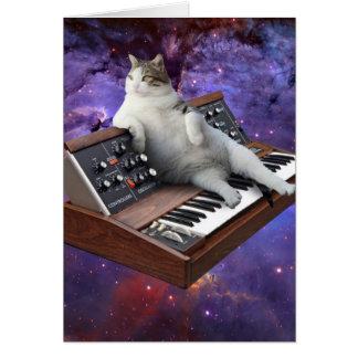 toetsenbord kat - kat memes - gekke kat kaart