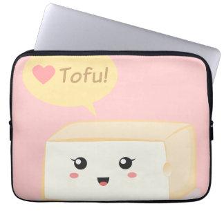 Tofu die van Kawaii mensen vragen om van tofu te h Computer Sleeve