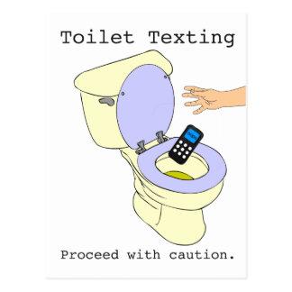 Toilet Texting Briefkaart