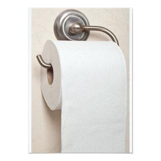 Toiletpapier 12,7x17,8 Uitnodiging Kaart