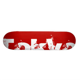 Tokyo - Japan, Rode Kleur en Witte Tekst Persoonlijk Skateboard