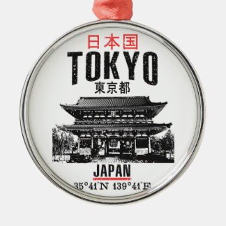 Tokyo Zilverkleurig Rond Ornament