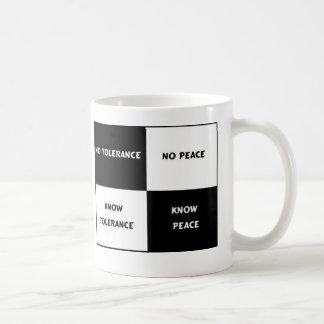 tolerantie = vrede koffiemok
