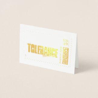 Tolereer die bij uw volgende feest of fundraiser. folie kaarten