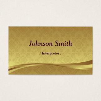 Tolk - Elegant Gouden Damast Visitekaartjes
