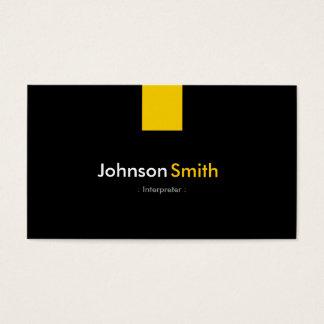 Tolk - Moderne Amber Geel Visitekaartjes