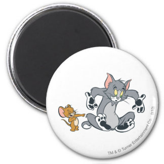 Tom en Jerry Black Paw Cat Ronde Magneet 5,7 Cm