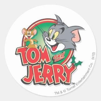 Tom en Jerry Classic Logo Ronde Sticker