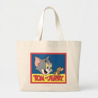 Tom en Jerry Logo Flat Grote Draagtas