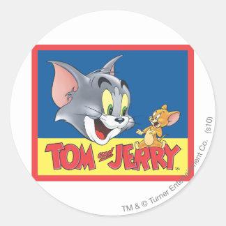 Tom en Jerry Logo Shaded Ronde Sticker