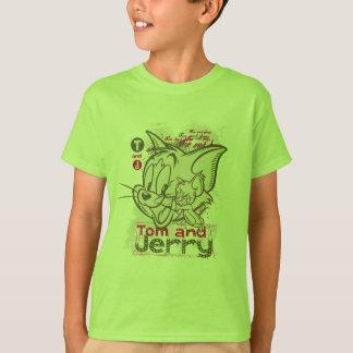 Tom en Jerry Pink en Groen T Shirt