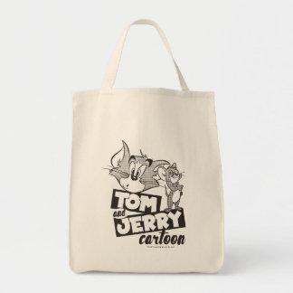 Tom en Jerry | Tom en Jerry Cartoon Boodschappen Draagtas