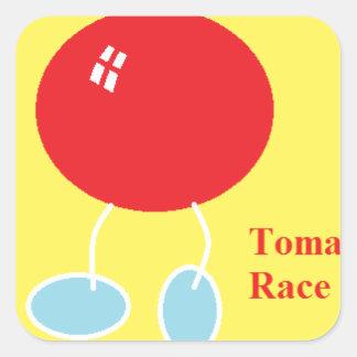 tomaat race.png vierkante sticker