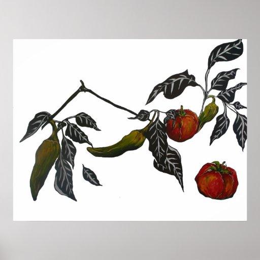 Tomaten op de Wijnstok Afdruk