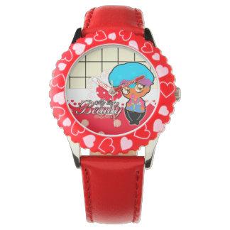 Tonen meisje MyTinyBeauty CherryLin Brown Horloges