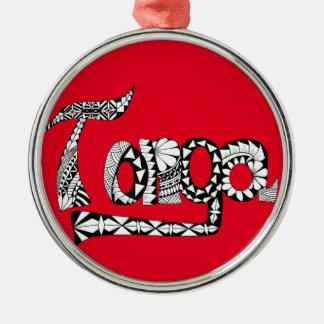 Tonga Zilverkleurig Rond Ornament